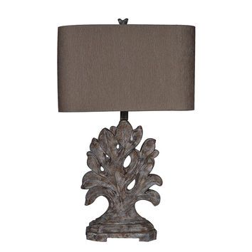 Crestview Collection Ona Carved Branch Table Lamp