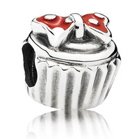 PANDORA Disney Minnie Cupcake with Red Enamel Charm