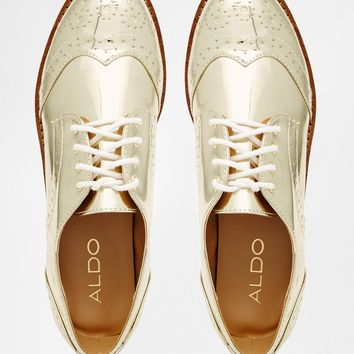 ALDO Tabbori Gold Flatform Shoes