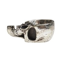 Alchemy Gothic Half Skull Trinket Dish Home Decor