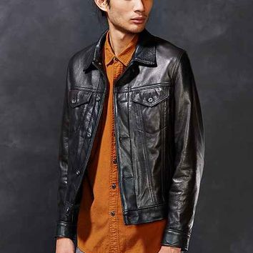 Schott Leather Trucker Jacket