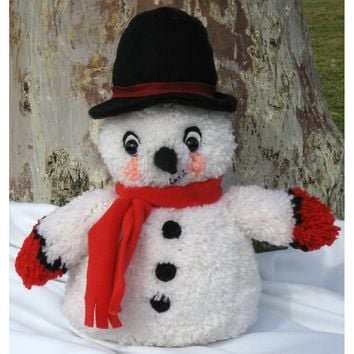 Snowman Huggables Stuffed Toy Latch Hook Kit 16""
