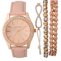 Pastel Apricot Watch and Bracelet Set