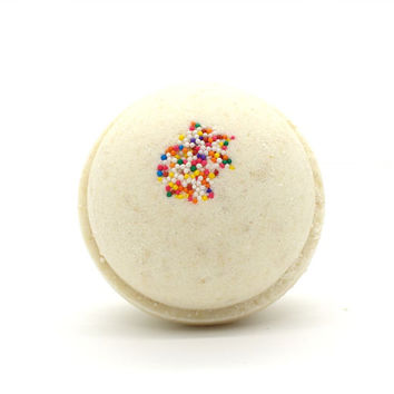 Large Birthday Cake Bath Bomb | XL Cake Goat Milk Bath Bomb | Cake Batter Bath Bomb