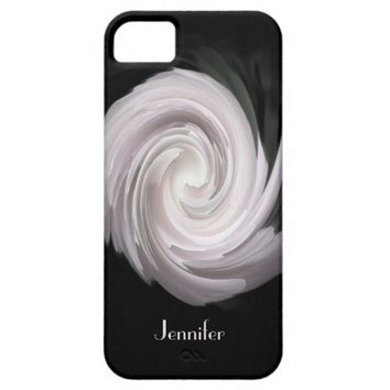iPhone SE, iPhone 5/5s Case Pale Pink Rose Swirl