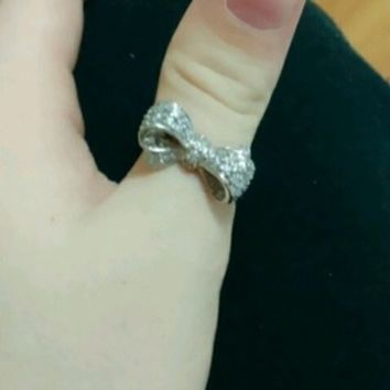 Cz Ring WG plated