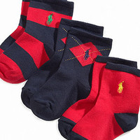 Ralph Lauren Baby Socks, Baby Argyle Rugby Socks 3 Pack - Kids Baby Boy (0-24 months) - Macy's