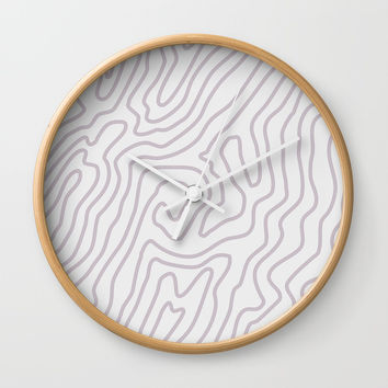 Abstract landscape Wall Clock by printapix