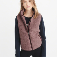 Womens Sherpa Vest | Womens Tops | Abercrombie.com