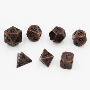 Dungeons & Dragons 7pcs/set Creative Multi-faceted D&D Metal Dice Different Color DND