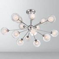 Possini Euro Design Glass Sphere 15-Light Ceiling Light - #X9159 | Lamps Plus