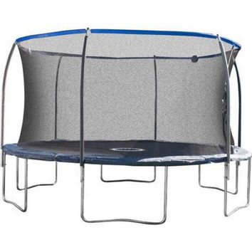 CleverModern14' Trampoline Enclosure With Shooter Game on Dark Blue