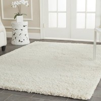 Safavieh California Shag Collection SG151-1212 Ivory Area Rug, 4 feet by 6 feet (4' x 6')