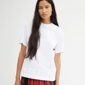 Beaded Bow T-Shirt by Simone Rocha- La Garçonne