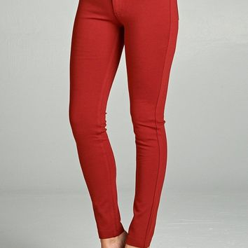 RUST PLUS SIZE PONTE KNIT JEAN