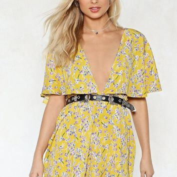 Cape in Touch Floral Romper