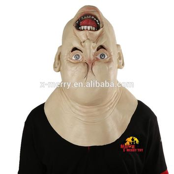 Scary Upside Down Head Latex Mask Best For Cosplay Masquerade