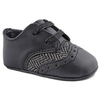 Wee Kids Oxford Crib Shoes - Baby Boy (Black)