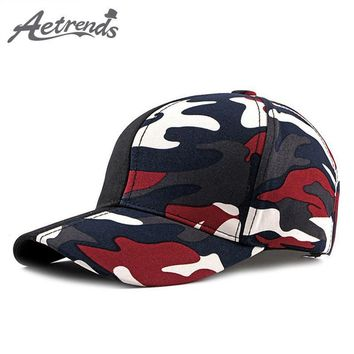 Trendy Winter Jacket [AETRENDS] 2018 Patchwork camouflage baseball cap red champion snapback men sports woman cap outdoor camo hat Z-6532 AT_92_12