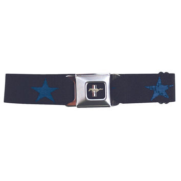 Mustang Seatbelt - Star Blue Web Belt