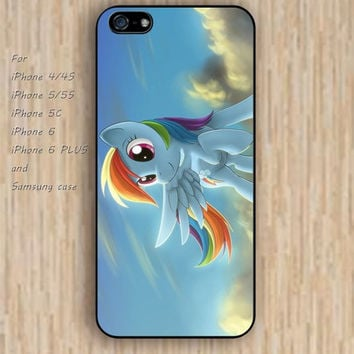iPhone 5s 6 case cartoon little pony Dream colorful phone case iphone case,ipod case,samsung galaxy case available plastic rubber case waterproof B479