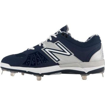 MDIGON new balance 3000v2 metal cleats low cut navy silver