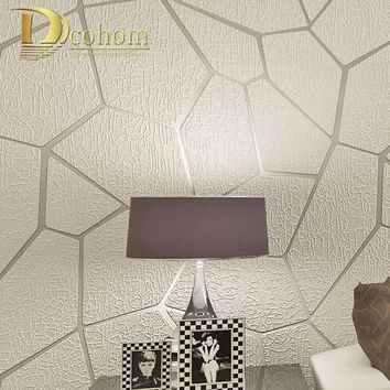 Thick Flocked Modern Geometry Striped Wallpaper For Walls Living room Sofa TV Background Decor Home 3D Wall Paper Rolls