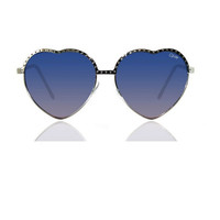 Quay Hearts Sunglasses Silver