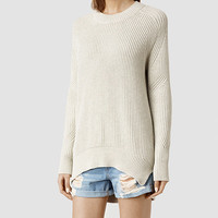 Womens Quinta Cotton Sweater (Marble Marl) | ALLSAINTS.com
