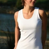 A.S. Women's 100% Ringspun Cotton Tanktop Tank - White