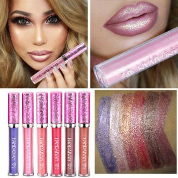 DCCKN7K Diamond bead light lip gloss Non-stick cup mermaid her lipstick lipstick