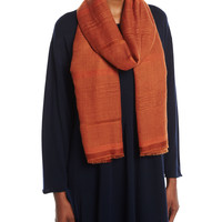 Eskandar Two-Tone Open Weave Cashmere Scarf and Matching Items