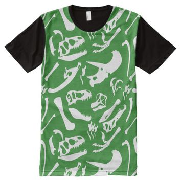 Dinosaur Bones (Green) All-Over-Print Shirt