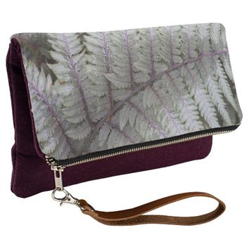 Japanese Painted Fern Floral Clutch