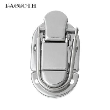 "PACGOTH Iron Based Alloy Suitcase Box Lock Catch Latches Oval Silver Tone 6cm x 3.5cm(2 3/8"" x1 3/8""), 5 Sets"