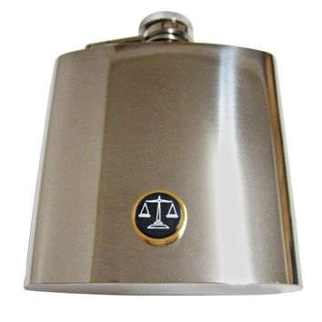 Golden Scale of Justice 6 Oz. Stainless Steel Flask