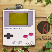 GameBoy Vintage 6oz and 8oz Hip Flask