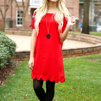 love me dress - red