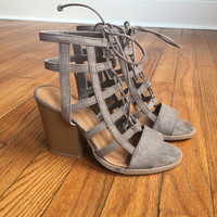 A Cutout Bootie in Taupe