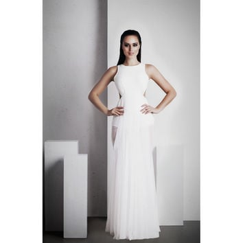 'Ophelia' Full Length Dress - White
