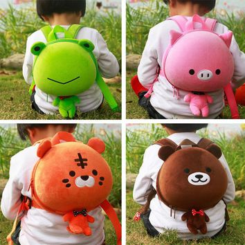 HOT baby Lovely frog Bear School Backpack kids Kawaii Animal EVA Plush backpack  Lolita Bunny Bag children Soft Toys MR161