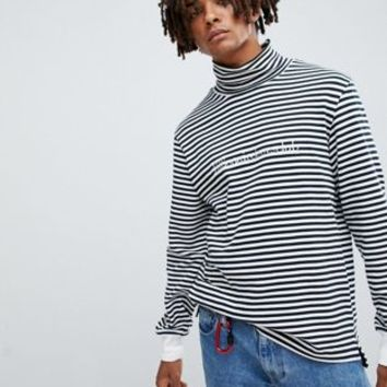 Billionaire Boys Club striped long sleeve t-shirt in white at asos.com