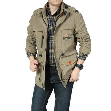 Bomber Soft Shell Jacket Men Army Jacket Breathable Windproof Raincoat Multi-pocket
