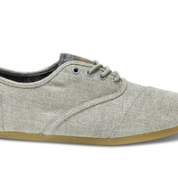 TOMS Charcoal Grey Fleece Men's Vegan Cordones Grey