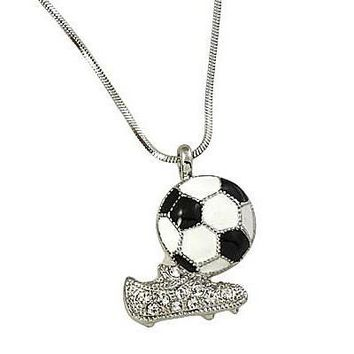 *Soccer Ball & Cleats Pendant Necklace