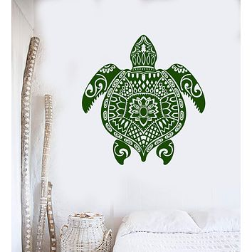 Vinyl Wall Decal Turtle Ocean Animal Sea Marine Decor Stickers Unique Gift (ig4309)