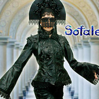 Handmade womens Jacket black genuine leather with wide lace. Aristocratic  Gothic style jacket. In stock!