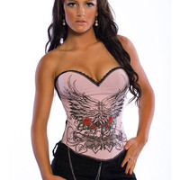 Pink Love Lace Corset