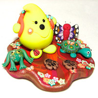 HIKING Parker StoryBook Scene - Polymer Clay Character - Limited Edition Sculpture