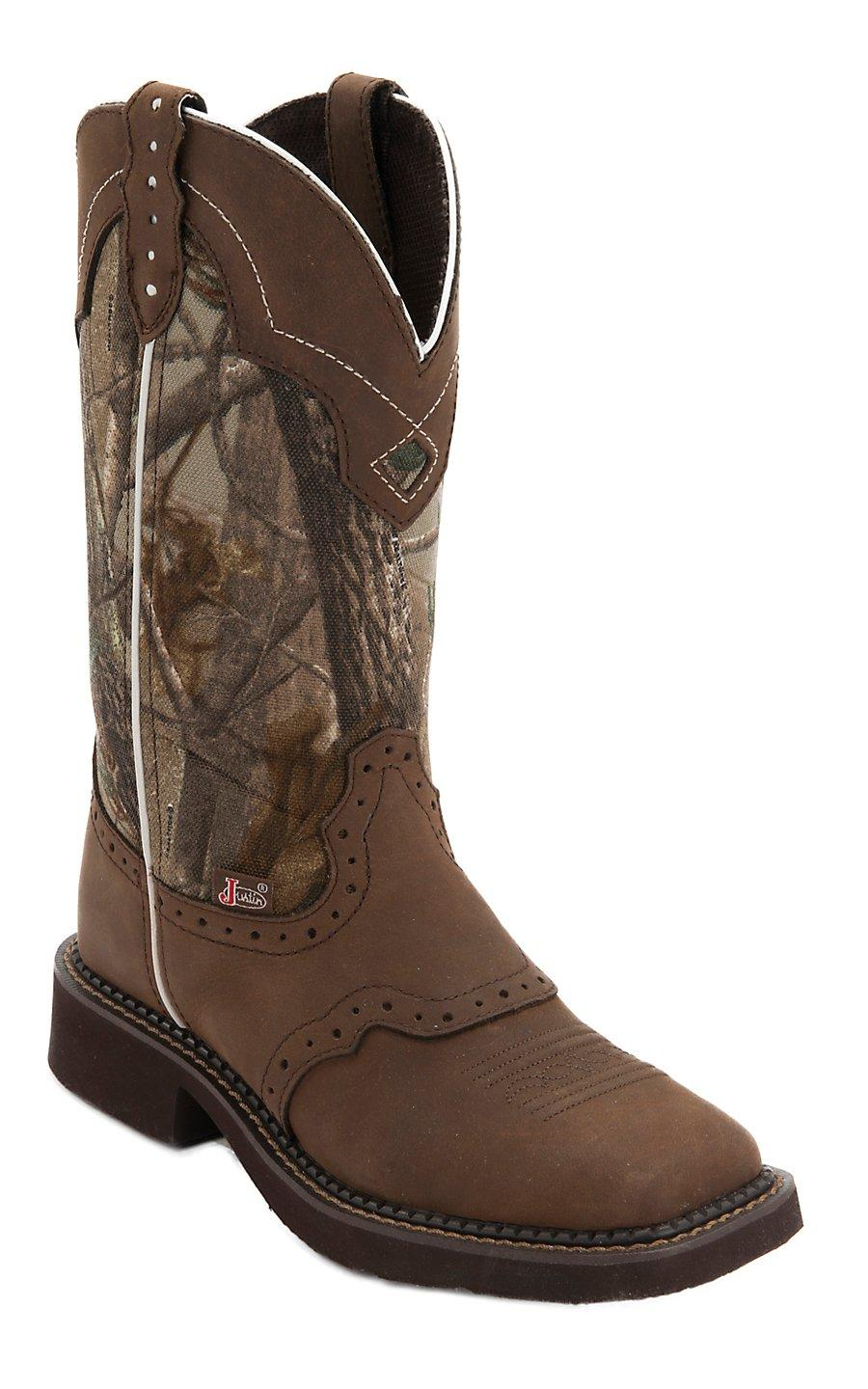 justin s aged bark brown from cavender s
